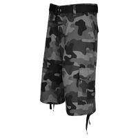 Southpole Belted Camo Print Cargo Shorts - Men's - Grey / Black