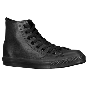 Converse All Star Leather Hi - Men's - Black Monochrome