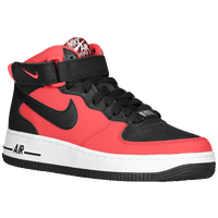 Nike Air Force 1 Mid - Boys' Grade School - Red / White