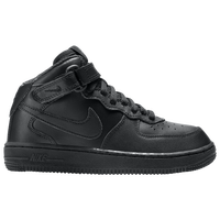 Nike Air Force 1 Mid - Boys' Preschool - All Black / Black