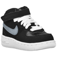 Nike Air Force 1 Mid - Boys' Toddler - Black / Grey