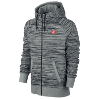 Nike AW77 Full Zip Hoodie AOP Speed Stripe - Men's - Grey / Black