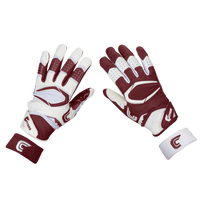 Cutters Rev Pro 2.0 Ying Yang Receiver Gloves - Men's - Maroon / White