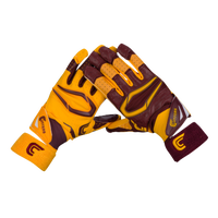Cutters Rev Pro 2.0 Ying Yang Receiver Gloves - Men's - Maroon / Gold