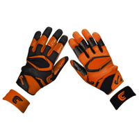 Cutters Rev Pro 2.0 Ying Yang Receiver Gloves - Men's - Orange / Black