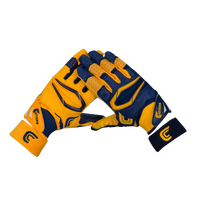 Cutters Rev Pro 2.0 Ying Yang Receiver Gloves - Men's - Navy / Gold