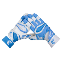 Cutters Rev Pro 2.0 Ying Yang Receiver Gloves - Men's - Light Blue / White
