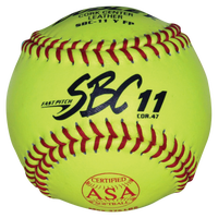 Dudley SBC11YFP ASA Yellow Leather Softball