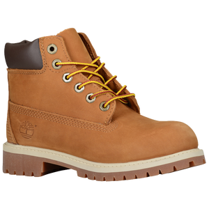 "Timberland 6"" Premium Waterproof Boots - Boys' Preschool - Rust/Honey"
