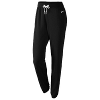 Nike Club Swoosh Fleece Loose Pants - Women's - All Black / Black