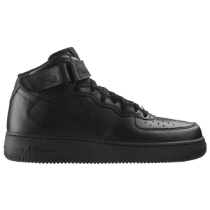 Nike Air Force 1 Mid - Men's - Black/Black