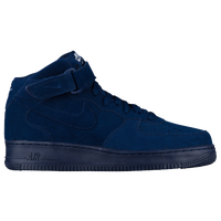 nike air force one navy blue and white