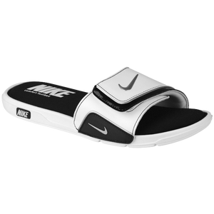 Nike Comfort Slide 2 - Men's - White/Black/Metallic Silver
