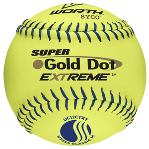 Worth UC12CYXT Super Gold Dot Extreme Softball - Men's - Yellow