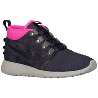 Nike Roshe Run Mid Winter - Men's - Grey / Pink