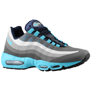 Nike Air Max 95 No Sew - Men's - Dark Grey/Gamma Blue/Clear Grey