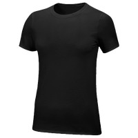 Nike Team Core S/S T-Shirt - Women's - All Black / Black