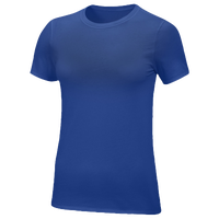 Nike Team Core S/S T-Shirt - Women's - Blue / Blue