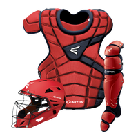 Easton M10 Intermediate Catcher's Set - Youth - Red / Navy
