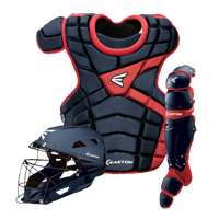 Easton M10 Intermediate Catcher's Set - Youth - Navy / Red
