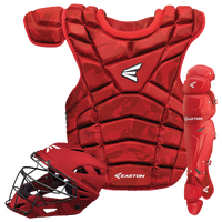 Easton M10 Intermediate Catcher's Set - Youth - Red / Red