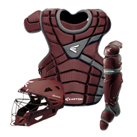 Easton M10 Catcher's Set - Youth - Maroon / Silver