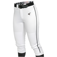 Easton Mako Piped Softball Pants - Women's - White / Black
