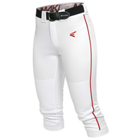 Easton Mako Piped Softball Pants - Women's - White / Red