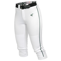 Easton Mako Piped Softball Pants - Women's - White / Dark Green