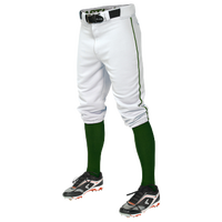 Easton Pro + Knicker Piped Baseball Pants - Men's - White / Green
