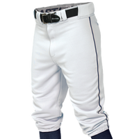 Easton Pro + Knicker Piped Baseball Pants - Men's - White / Navy