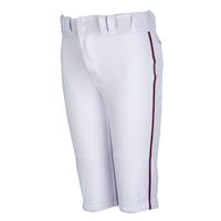 Easton Pro + Knicker Piped Baseball Pants - Boys' Grade School - White / Maroon