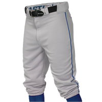 Easton Pro + Knicker Piped Baseball Pants - Boys' Grade School - Grey / Blue