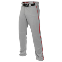 Easton Mako 2 Piped Baseball Pants - Boys' Grade School - Grey / Red