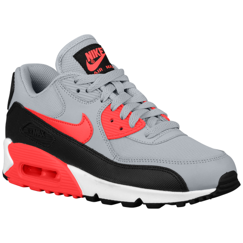 Nike Air Max 90 - Women's - Running - Shoes - Wolf Grey/Infrared/Black