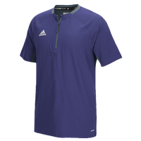 adidas Climalite Fielder's Choice Cage Jacket - Men's - Purple / Grey