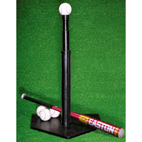 All Star Heavy Duty Rubber Batting Tee - Silver / Red