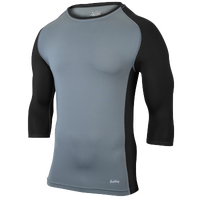 Eastbay Baseball Compression Top - Boys' Grade School - Grey / Black