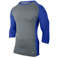 Eastbay Baseball Compression Top - Boys' Grade School - Grey / Blue