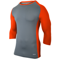 Eastbay Baseball Compression Top - Youth - Grey / Orange
