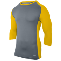 Eastbay Baseball Compression Top - Boys' Grade School - Grey / Gold