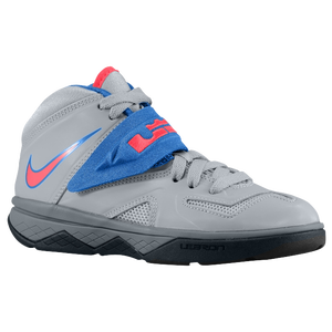 Nike Soldier VII - Boys' Preschool - Lebron James - Wolf Grey/Cool Grey/Military Blue/Laser Crimson