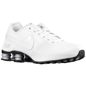 Nike Shox Deliver - Men's - White/White/Metallic Silver/Black