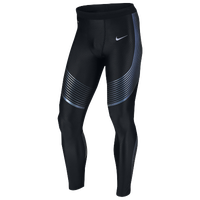 Nike Dri-FIT Run Speed Tights - Men's - Black / Light Blue
