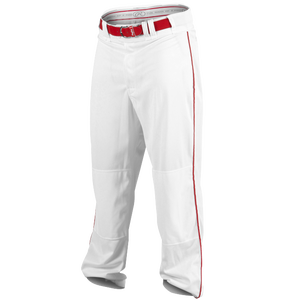 Rawlings Ace Relaxed Fit Piped Pants - Men's - White/Scarlet