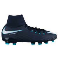 Nike Hypervenom Phelon III Dynamic Fit FG - Boys' Grade School - Navy / White