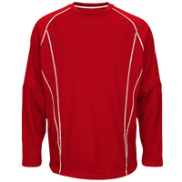 Majestic Practice Pullover - Men's - Red / White