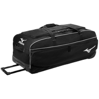 Mizuno Team MX Large Wheeled Equipment Bag - Black / White