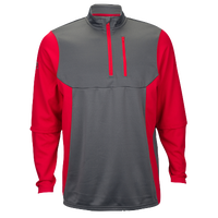 Rawlings 1/4 Zip Tech Fleece Pullover - Men's - Grey / Red