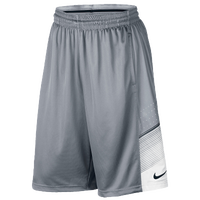 Nike Elite World Tour Shorts - Men's - Grey / White